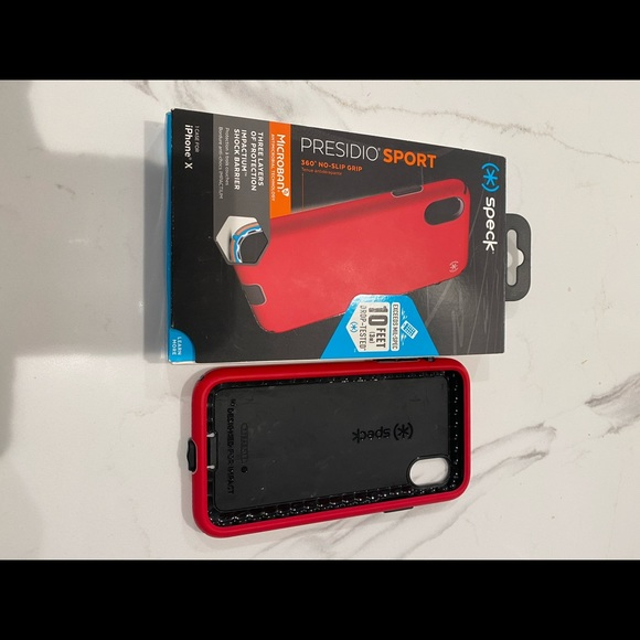 Bright red iPhone X speck case barely used